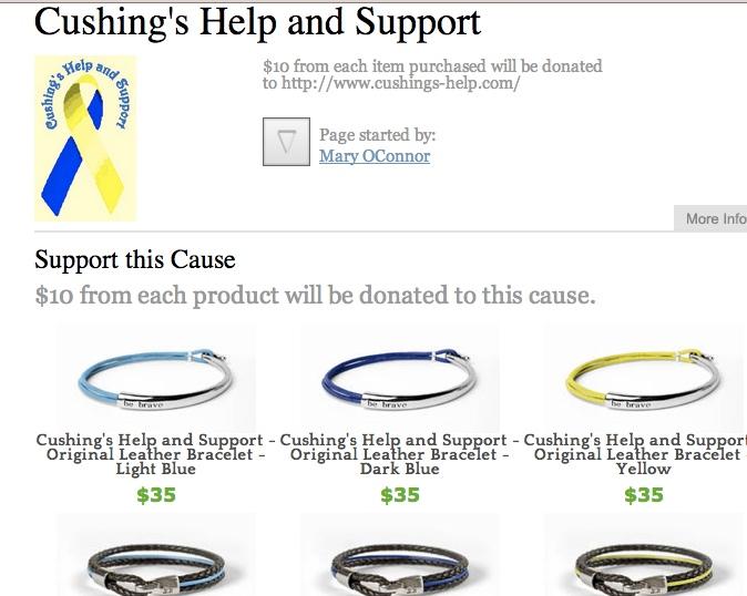 Cushing's Help Bravelets